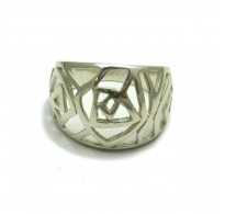 R000611 Extravagant Sterling Silver Ring Stamped Solid 925 Perfect Quality Empress