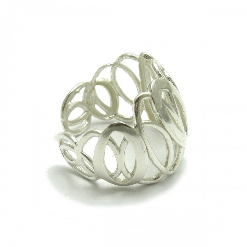 Stylish light sterling silver ring adjustable size new R001641 Empress