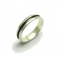 R001642 STERLING SILVER RING CLASSIC 5 mm BAND SOLID 925 EMPRESS