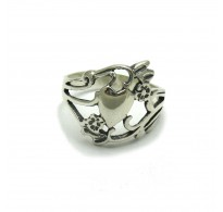 R001661 Sterling silver ring solid 925 Heart  Empress