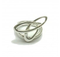 R001677 Extravagant sterling silver ring solid 925 adjustable size Empress