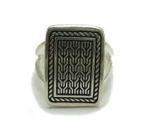 R001744 Sterling silver ring solid 925 adjustable size Empress
