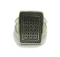 R001744 Sterling silver ring solid 925 adjustable size Empress