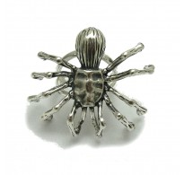R001745 Sterling silver ring solid 925 huge Spider adjustable size Empress