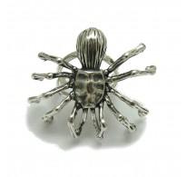 R001745 Sterling silver ring solid 925 huge Spider adjustable size Empress