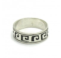 R000232 STERLING SILVER Ring Band Solid 925